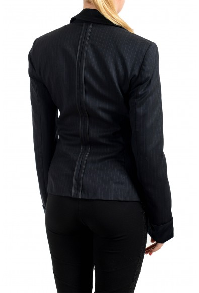 Exte Women's Black 100% Wool Striped Two Button Blazer : Picture 2