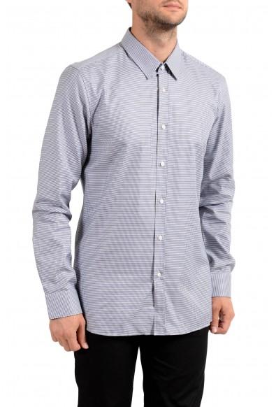 Hugo Boss Men's Elisha01 Houndstooth Print Long Sleeve Dress Shirt