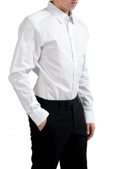 "Dolce & Gabbana ""Gold"" Men's Striped Long Sleeve Dress Shirt: Picture 2"