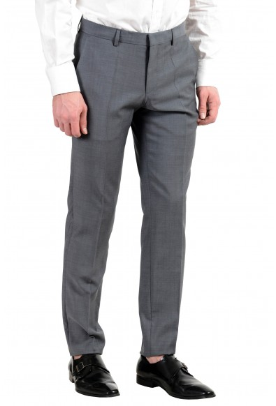 """Hugo Boss """"Henry/Griffin182"""" Men's 100% Wool Gray Slim Fit Two Button Suit: Picture 2"""