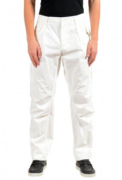 Dolce & Gabbana Men's White Cargo Casual Pants