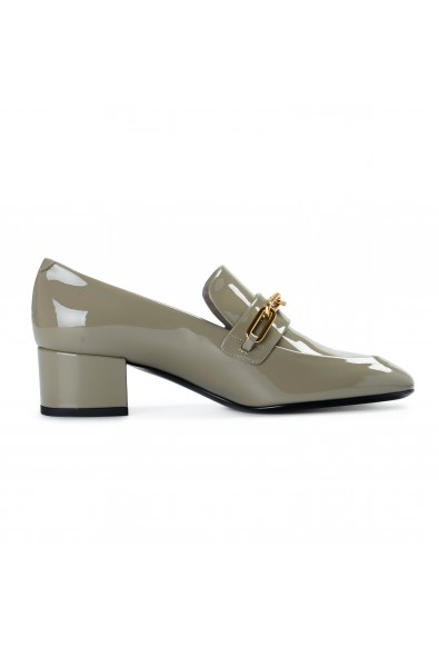 Burberry London Women's CHILLCOT Gray Patent Leather Pumps Shoes: Picture 2