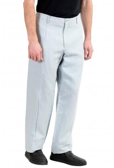 Dolce&Gabbana Men's Linen Light Blue Dress Pants: Picture 2