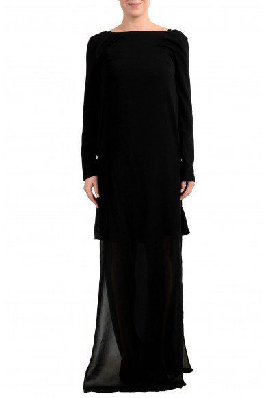 Versus by Versace Women's Black See Through Maxi Evening Dress
