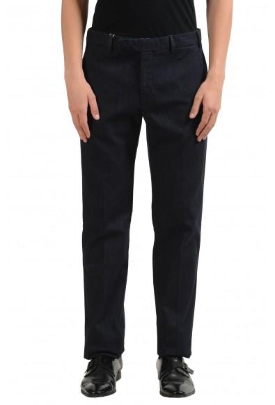 Armani Collezioni Men's Dark Gray Denim Dress Pants