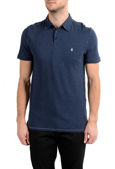 John Varvatos Star USA Men's Navy Blue Short Sleeve Polo Shirt