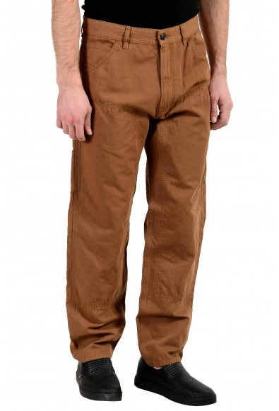 """Hugo Boss """"Sice-D"""" Men's Linen Tapered Fit Brown Casual Pants : Picture 2"""