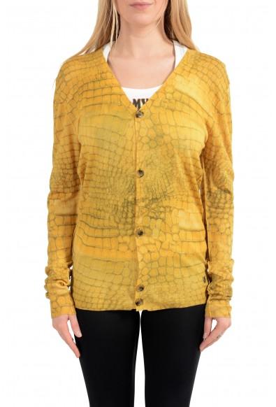 John Galliano Women's 100% Wool Button Down Cardigan Sweater
