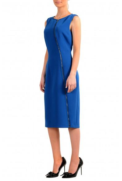 "Hugo Boss Women's ""Danafea"" Blue Sleeveless Pencil Dress: Picture 2"