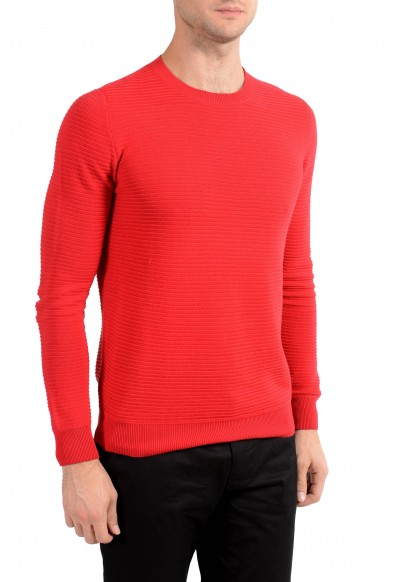 Malo Men's Red Ribbed Crewneck Sweater: Picture 2