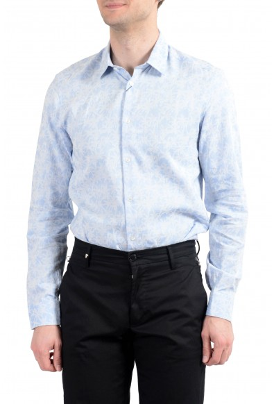Kenzo Men's Sim Fit Blue Long Sleeve Button Down Dress Shirt