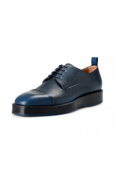 "Hugo Boss Men's ""Boulevard_Derb_sgct"" Blue Textured Leather Derby Shoes"