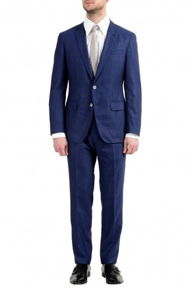 "Hugo Boss ""Helford/Gander3"" Men's Wool Silk Slim Blue Two Button Suit"