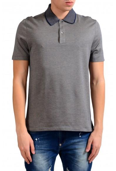 Malo Men's Gray Short Sleeve Polo Shirt