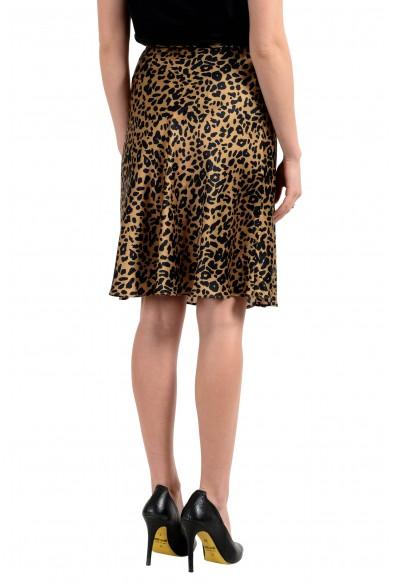John Galliano Women's Fucsia 100% Silk Animal Print Flare Skirt : Picture 2
