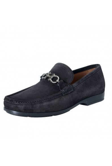 "Salvatore Ferragamo ""Gerolamo"" Men's Suede Leather Black Loafers Slip On Shoes"