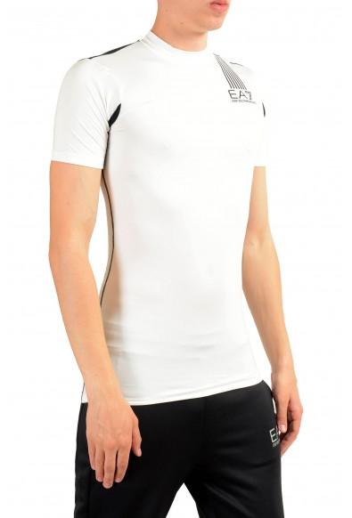 """Emporio Armani EA7 """"Tech M"""" Men's White High Neck T-Shirt: Picture 2"""