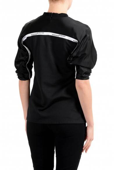 Versus by Versace Women's Black Cut Out 3/4 Sleeve Top : Picture 2