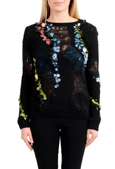 Versace Women's See Through Crewneck Sweater