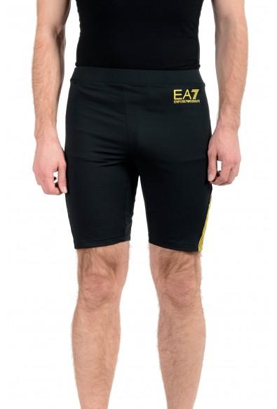 """Emporio Armani EA7 """"Train Squash"""" Men's Black Stretch Bike Shorts"""