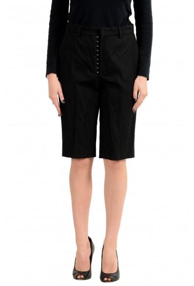 Hugo Boss Women's Black Stretch Casual Shorts