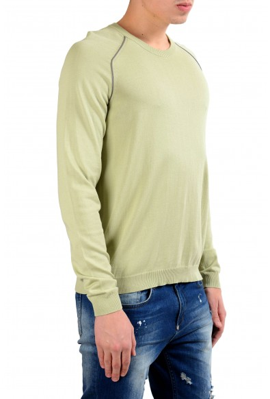 Malo Men's Asparagus Green Crewneck Light Pullover Sweater: Picture 2