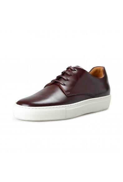 "Hugo Boss Men's ""Mirage_Tenn_budr"" Burgundy Leather Fashion Sneakers Shoes"