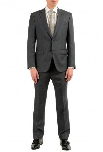 """Hugo Boss """"Huge6/Genius"""" Men's 100% Wool Dark Gray Two Button Suit"""