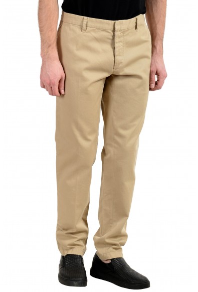 Dsquared2 Men's Beige Flat Front Casual Pants: Picture 2