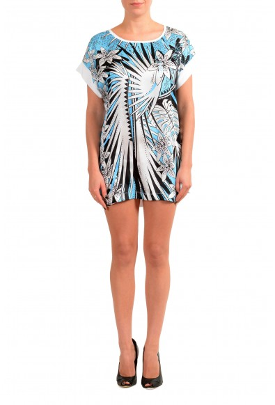 Just Cavalli Women's Multi-Color Floral Print Tunic Mini Dress