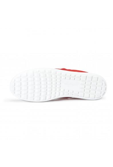 "Salvatore Ferragamo Women's ""FASANO"" Red Suede Leather Fashion Sneakers Shoes: Picture 2"