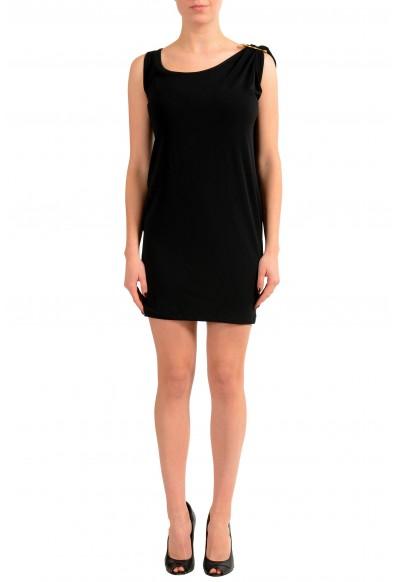 Versace Versus Black Sleeveless Women's Sheath Dress