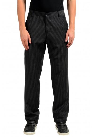 Dolce & Gabbana Men's 100% Wool Dress Striped Pants