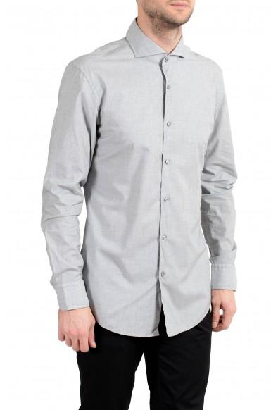 """Hugo Boss """"Jemerson"""" Men's Slim Gray Long Sleeve Dress Shirt"""