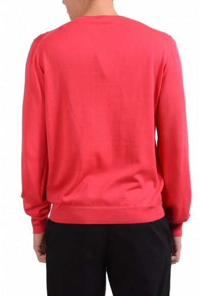Malo Men's Red Crewneck Light Pullover Sweater: Picture 2