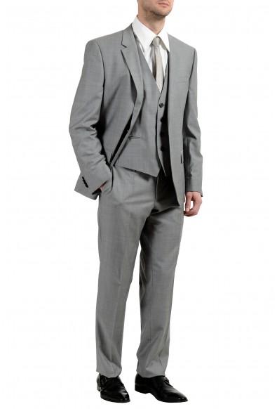 """Hugo Boss """"C-Huge1/C-Genius/WE"""" Men's 100% Wool Two Button Gray Three-Piece Suit: Picture 2"""