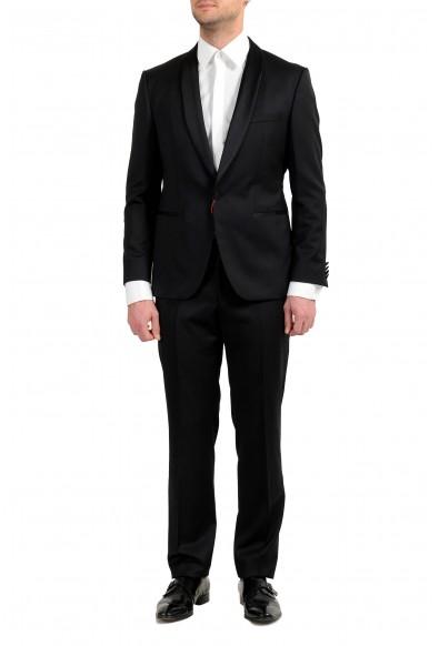 "Hugo Boss ""C-John/C-Saimen"" Men's 100% Wool Black One Button Suit"