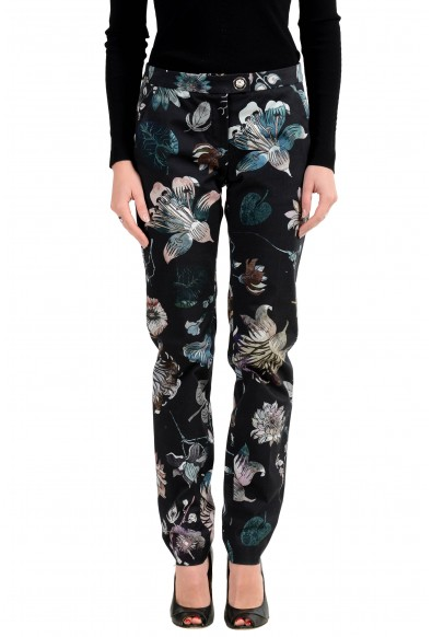 Versus by Versace Women's Floral Designed Stretch Casual Pants