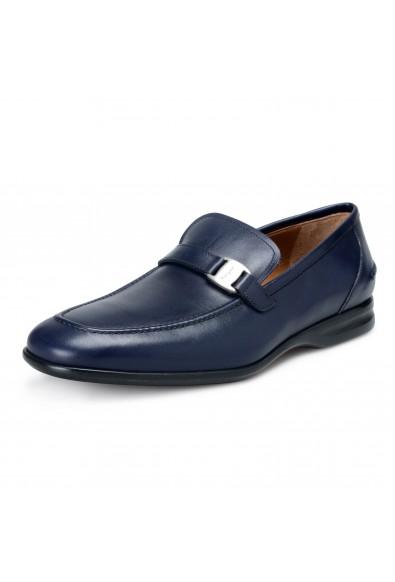 "Salvatore Ferragamo Men's ""Tangeri 2"" Blue Leather Slip On Loafers Shoes"