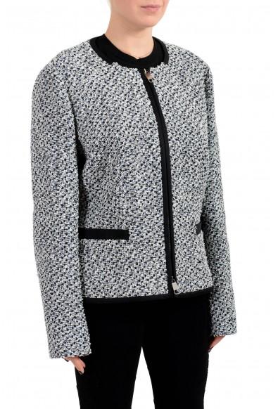 "Hugo Boss Women's ""Kalaila"" Wool Multi-Color Zip Up Blazer: Picture 2"