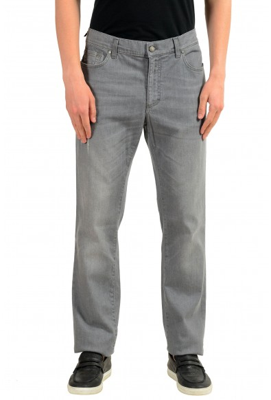 """Versace Collection """"Trend"""" Men's Gray Straight Leg Classic Jeans"""
