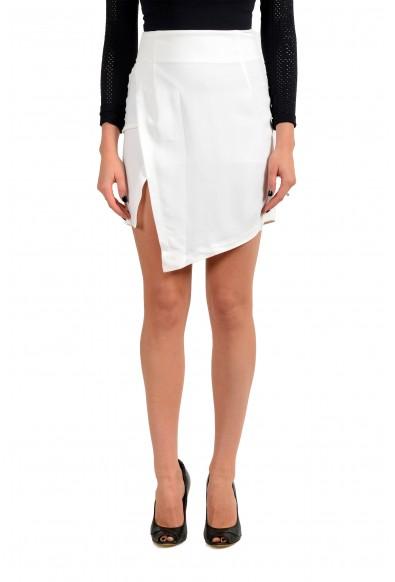 Just Cavalli Women's White Asymmetrical Skirt