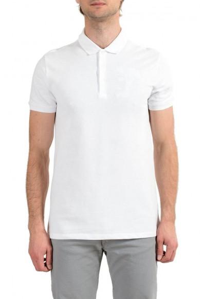 Versace Collection Men's White Logo Short Sleeve Polo T-Shirt