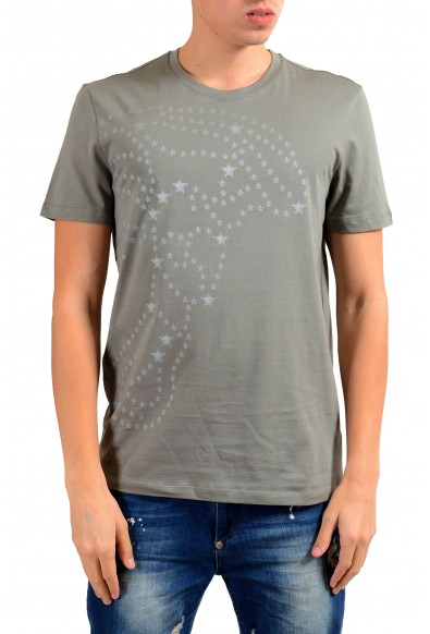 Versace Collection Men's Gray Graphic Short Sleeve T-Shirt