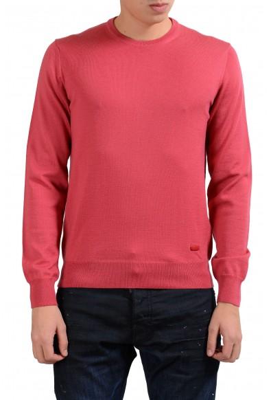 Armani Collezioni Men's Peach Crewneck 100% Wool Sweater