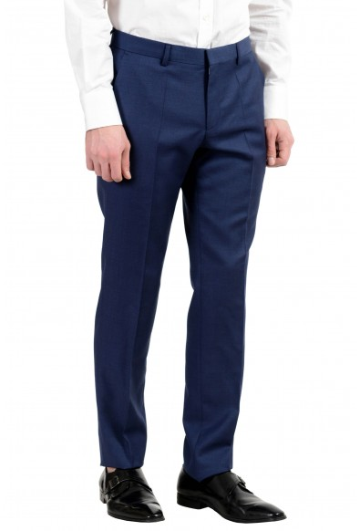 """Hugo Boss """"Henry/Griffin182"""" Men's 100% Wool Slim Blue Two Button Suit: Picture 2"""