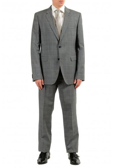 "Hugo Boss ""C-Jeffery/C-Simmons"" Men's 100% Wool Gray Plaid Two Button Suit"