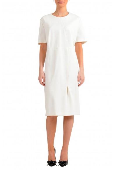 "Hugo Boss Women's ""Ditadara"" White Short Sleeve Shift Dress"