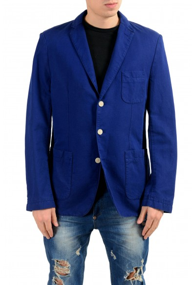 "Hugo Boss ""Neel-D"" Linen Purple Three Button Men's Blazer"