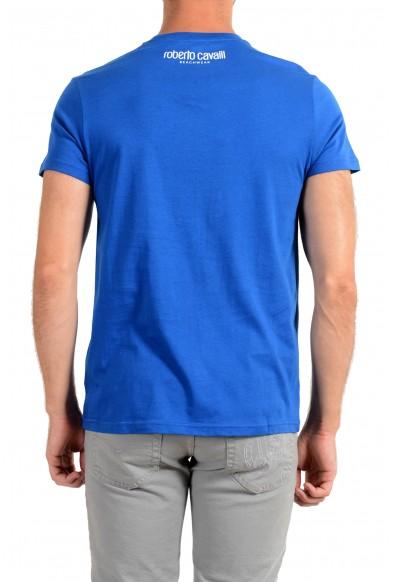 "Roberto Cavalli ""Beachwear"" Men's Blue Graphic Print T-Shirt: Picture 2"